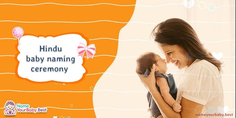 Hindu baby naming ceremony